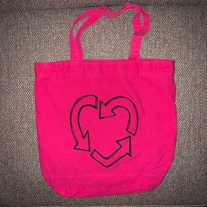 EUC Old Navy Recycle Heart Cotton Tote ♻️💗